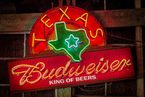 Texas, Budweiser, beer, sign, neon, digital, painting