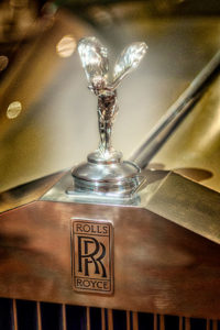 classic, car, automobile, Rolls Royce, hood, ornament, gold
