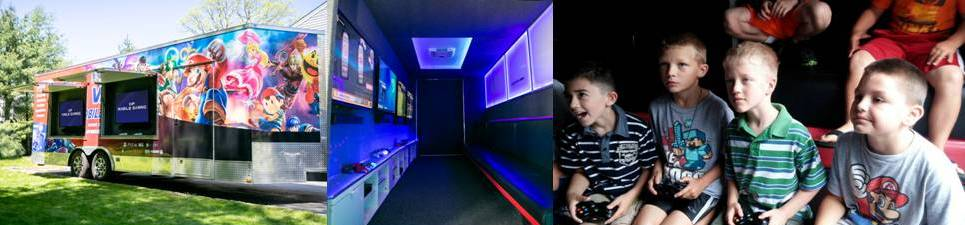Video game truck birthday party in New Jersey by VIP Mobile Gaming