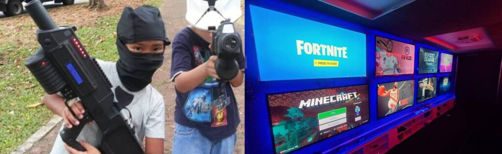 Video game truck and laser tag parties in New Jersey by V.I.P. Mobile Gaming