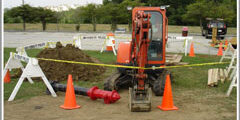 excavation and fire hydrant replacement