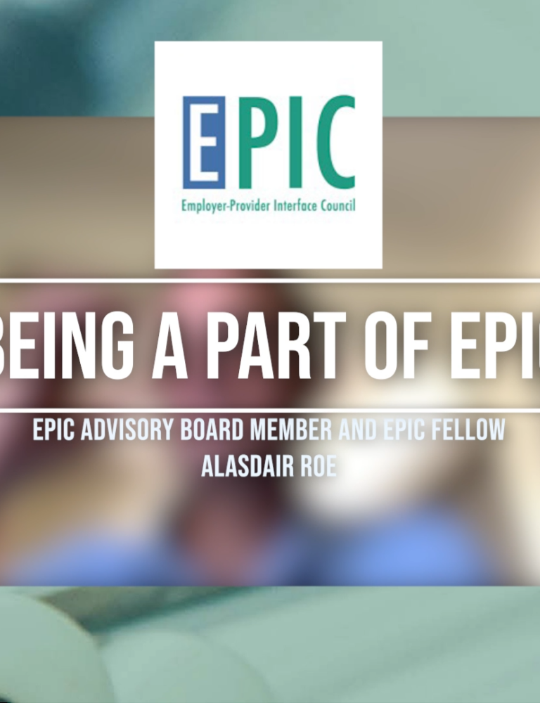 Title slide for vimeo video about being a part of EPIC