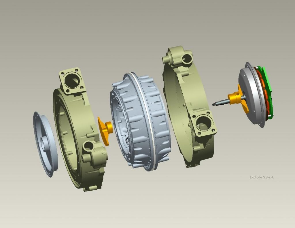 radial 12 ventilator compressor 3d model