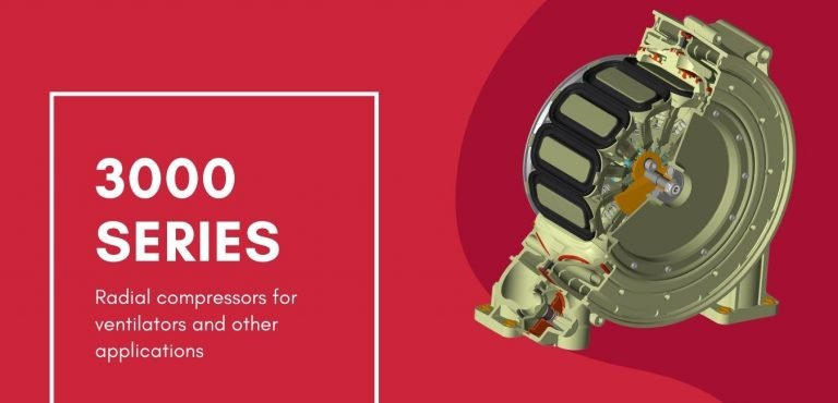 Dynaflo's patented 3000 Series compressor features non-pulsatile flow that works well in ventilator applications.
