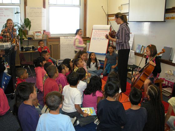 Catherine Beeson and 8 year-old cellist, Zoe