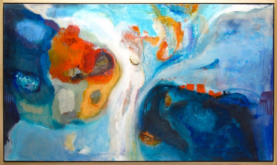 Large Painting Mixed Media on Canvas Wall Art Abstract Simplistic, Mixed Media on Canvas, colorful abstract paintings, large abstract paintings for sale, bold paintings, modern paintings, water abstract paintings, Michael Colpitts Paintings