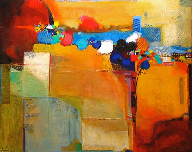 Mixed Media on Canvas, colorful abstract paintings, large abstract paintings for sale, bold paintings, modern paintings, Michael Colpitts Paintings
