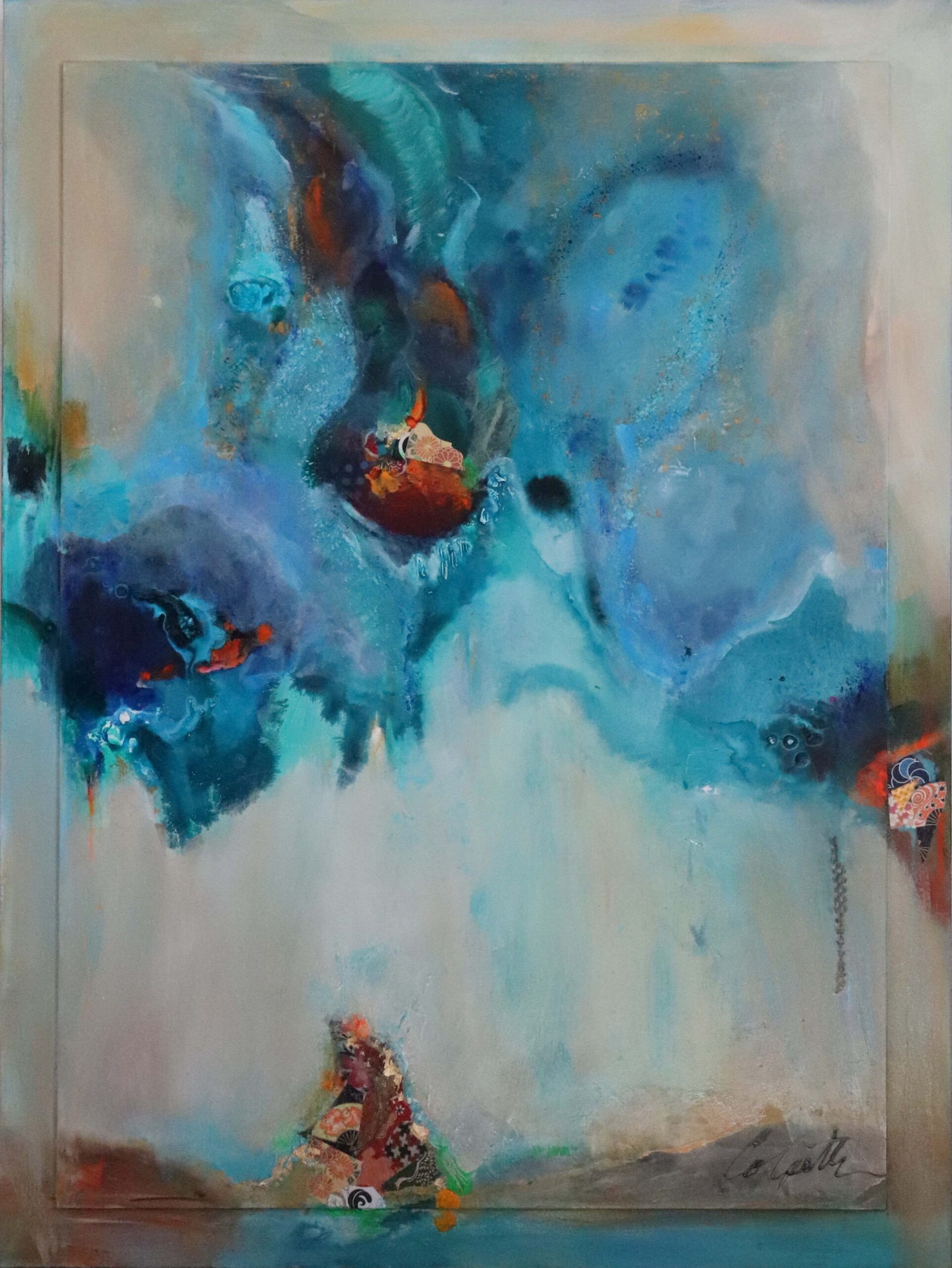 liquid acrylic painting, blue abstract art, Michael Colpitts paintings, Large Painting Mixed Media on Canvas Wall Art Abstract Simplistic, Mixed Media on Canvas, colorful abstract paintings, large abstract paintings for sale, bold paintings, modern paintings on canvas