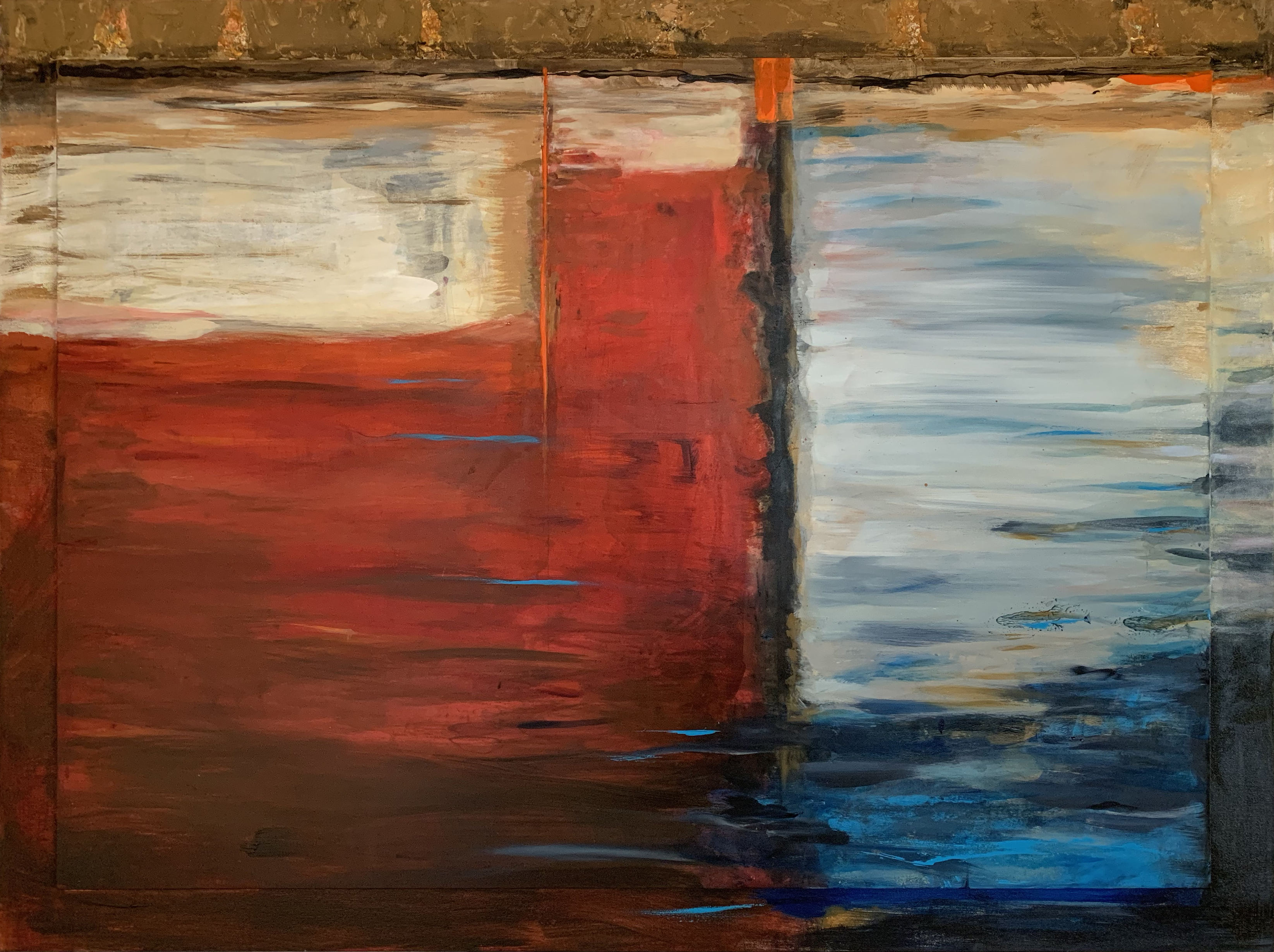Red white and blue abstract art, Michael Colpitts paintings, Large Painting Mixed Media on Canvas Wall Art Abstract Simplistic, Mixed Media on Canvas, colorful abstract paintings, large abstract paintings for sale, bold paintings, modern paintings on canvas