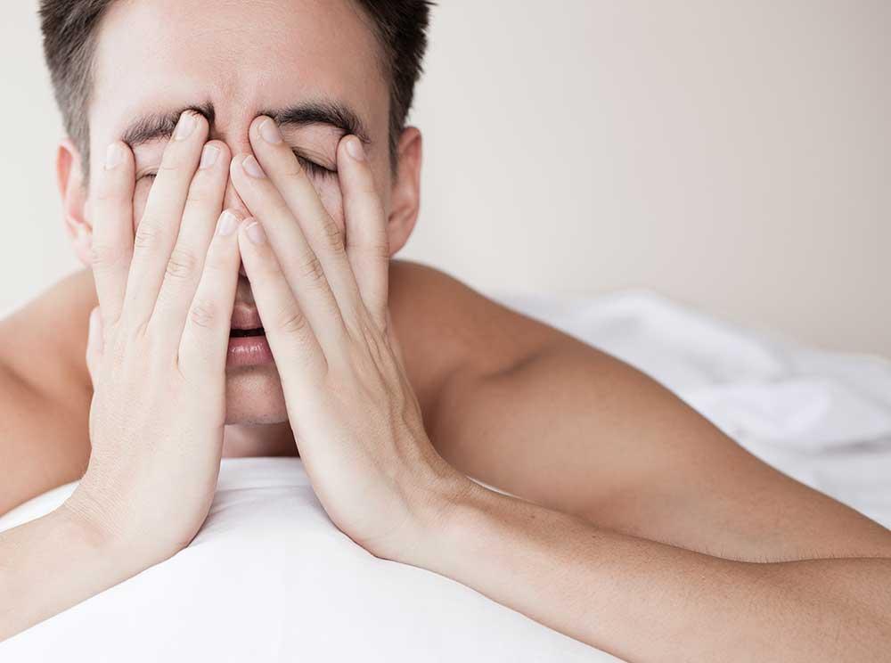 dental patient struggling with sleep apnea