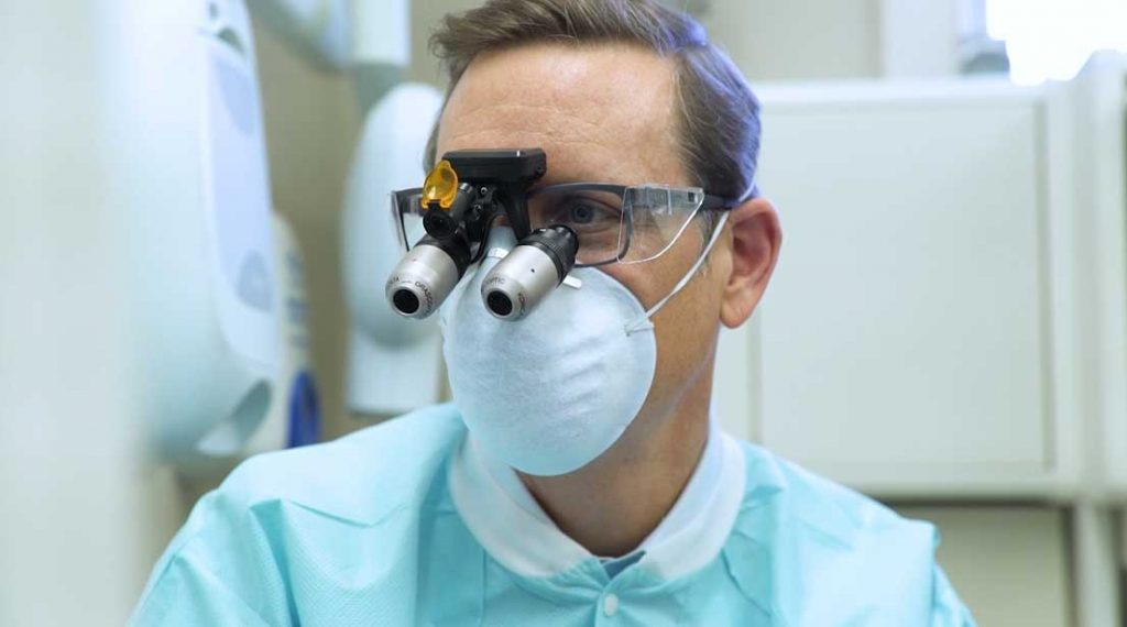 Dr. Layton working on Cerec Implant Crowns in Charlotte