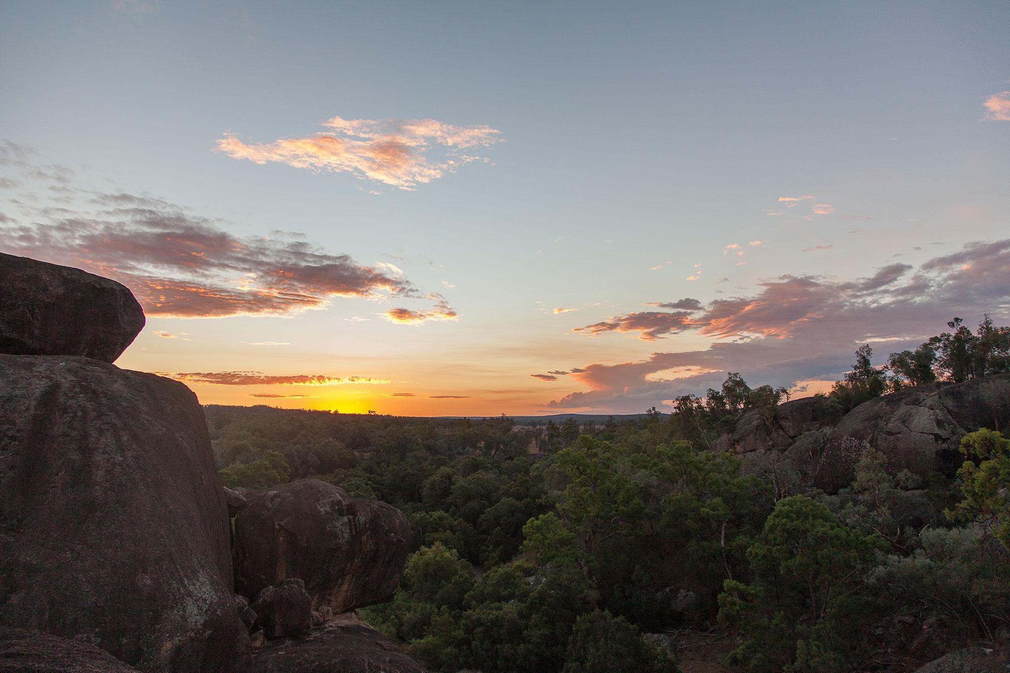 Sunset Cranky Rock