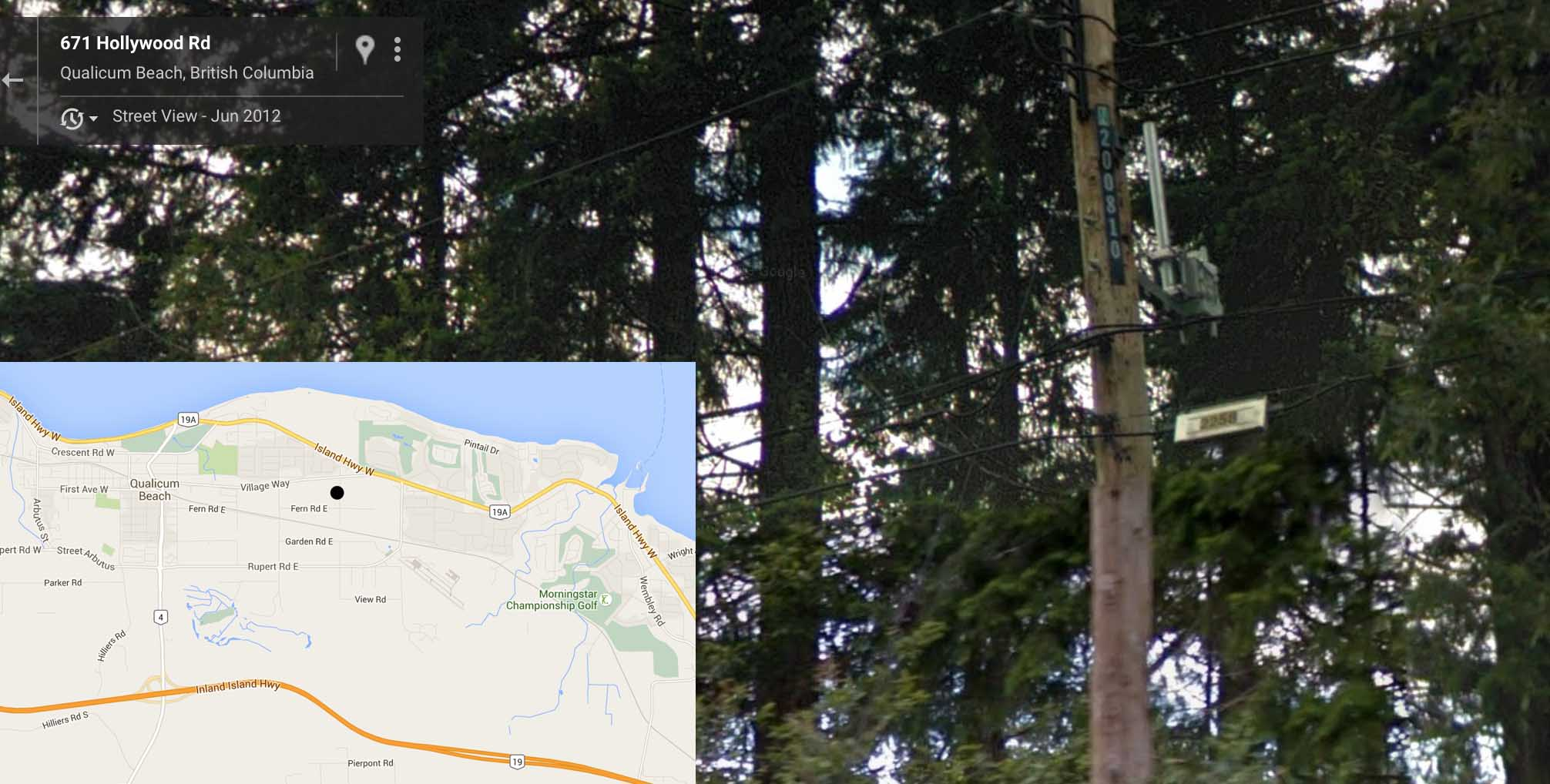 Hollywood Road - Qualicum Beach, BC  - BC Hydro Itron Cisco Collector Router