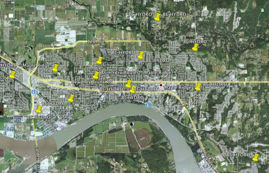 Maple Ridge BC - BC Hydro Collector Router (Cisco Mesh Network)