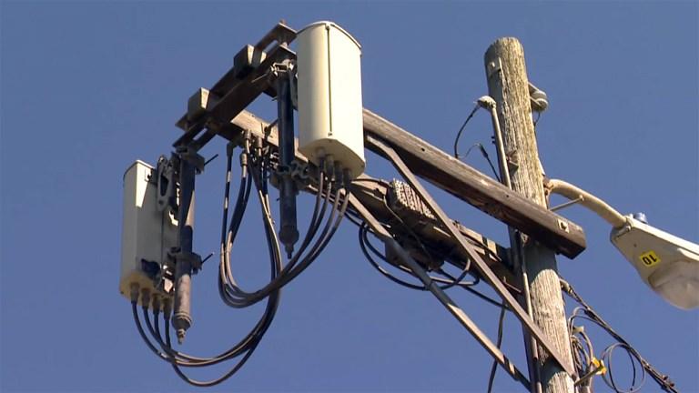 Cellphone micro tower. (CBS)