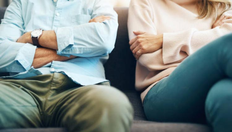 conversation with spouse during a divorce