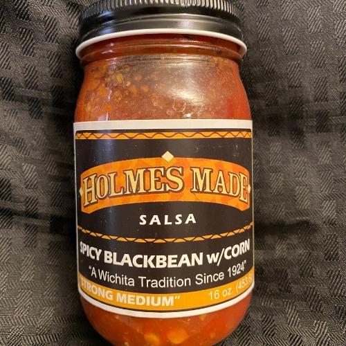 Holmes Made Spicy Blackbean w/ Corn Salsa