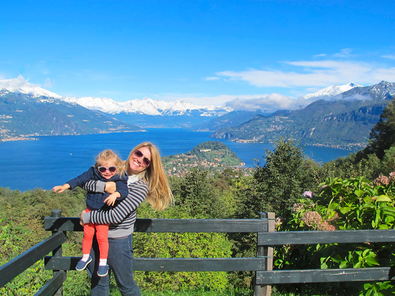 Jen and Julia Above Bellagio on Lake Como