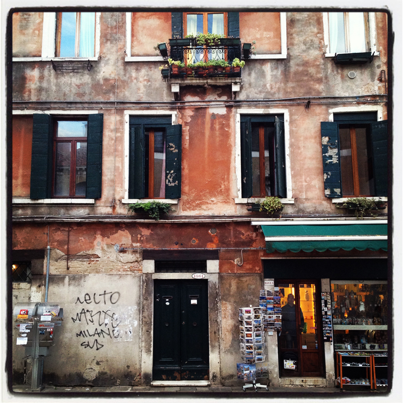 An older building shows a unique beauty that only Venice can provide