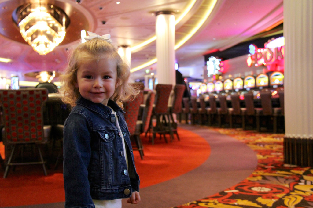 Apparently, gambling is a part of our blood line - Julia enjoys the Casino as much as I do