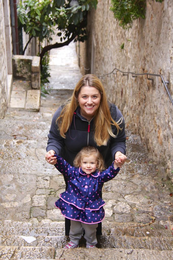 Jen and Julia love walking around Dubrovnik