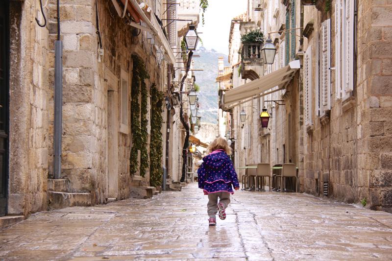 Julia strolls on ahead