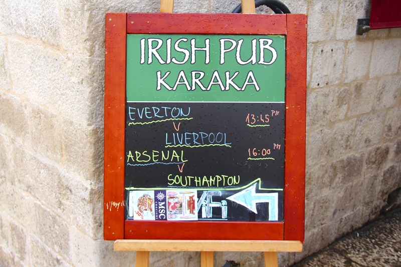 After hiding out in churches, I wanted to hide out here because at least I could order a pint
