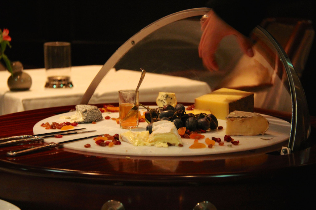 A Fine Selection of Artisan Cheeses served with Pain de Campagne and Dry Fruits