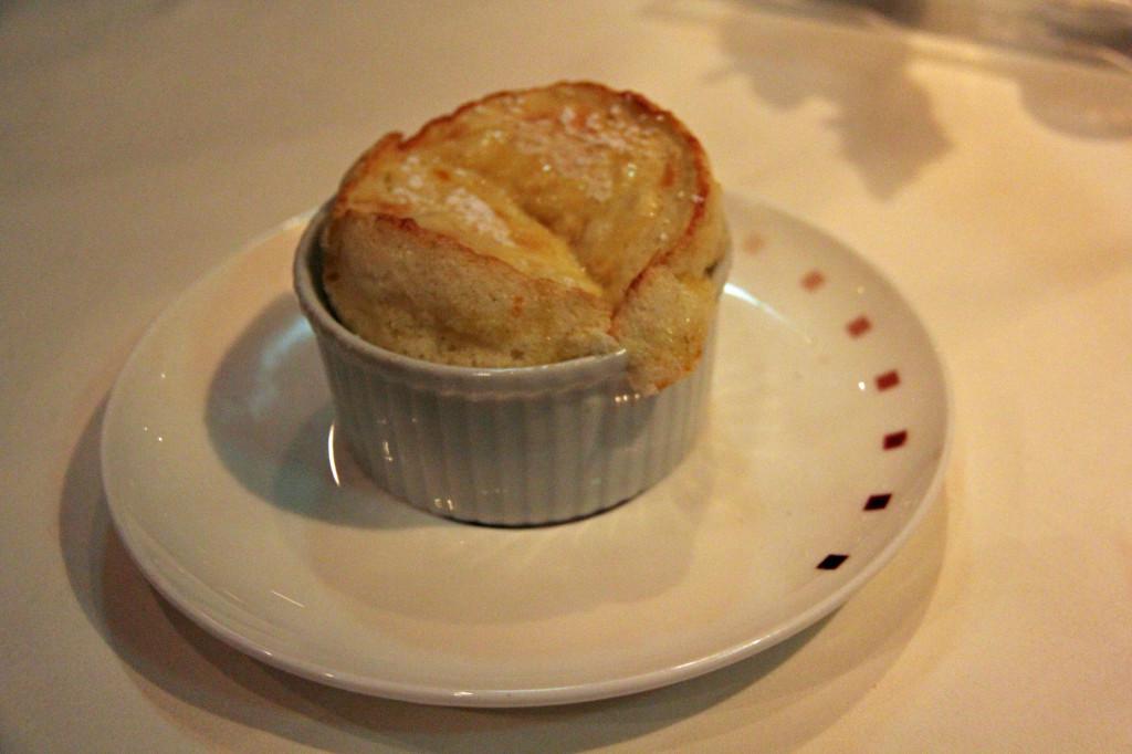 Grand Marnier Soufflé Crème Anglaise á la Gousse Tahitienne