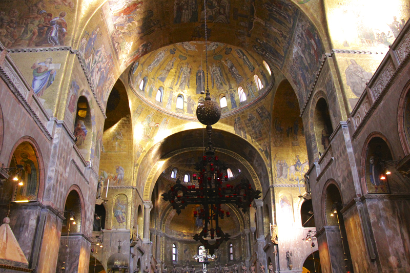 We were able to stroll right in to Basilica San Marco
