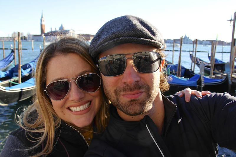 Jen and I pose in front of the Canale Della Giudecca