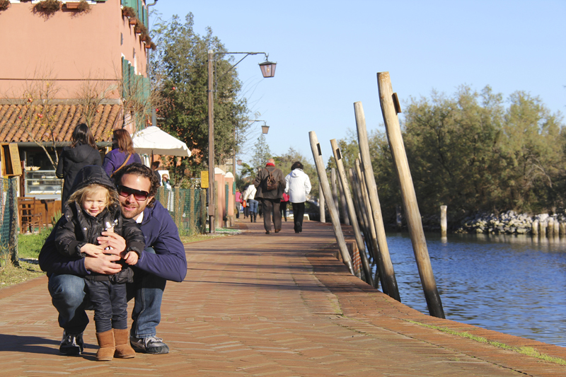 Julia and I walk along the ancient canal in Torcello