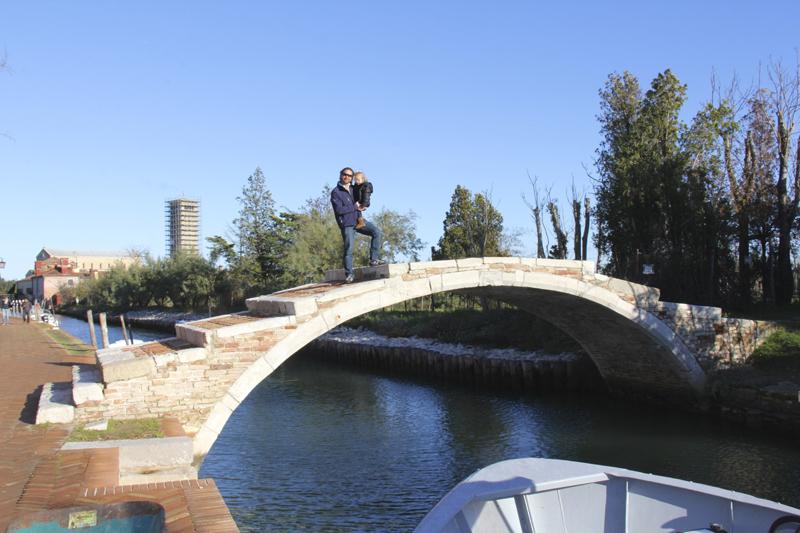 Julia and I take a stroll over this bridge