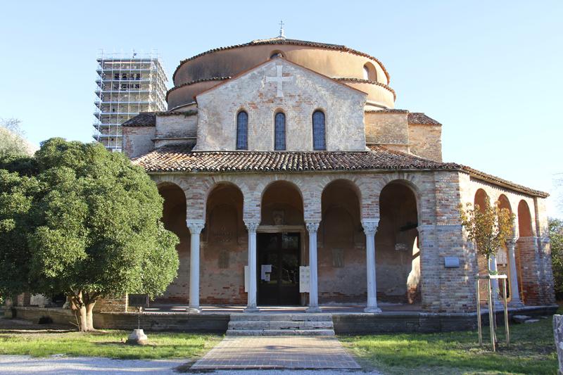 The historic Santa Fosca church - you can distinguish the Byzantine influence