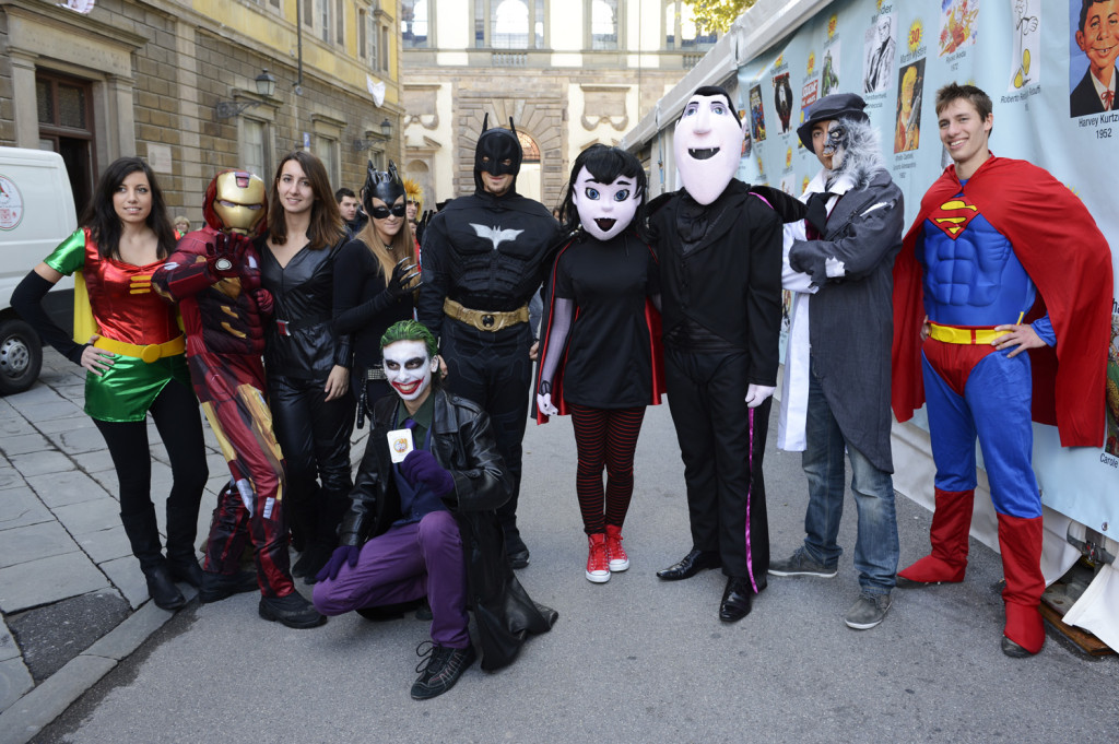 Some participants of Lucca Comics.  Photo courtesy of Francesco Petrucci