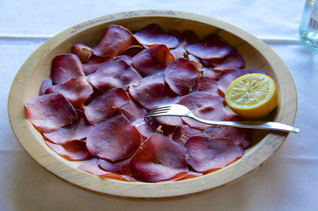 We started with bresaola as our antipasta