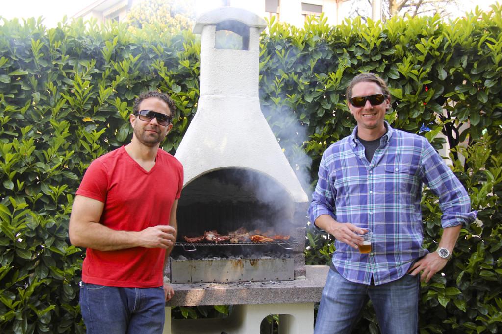 Matt and I grilled when we got home