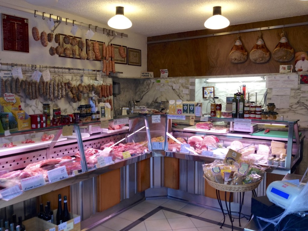 Inside our local butcher shop, just down the street