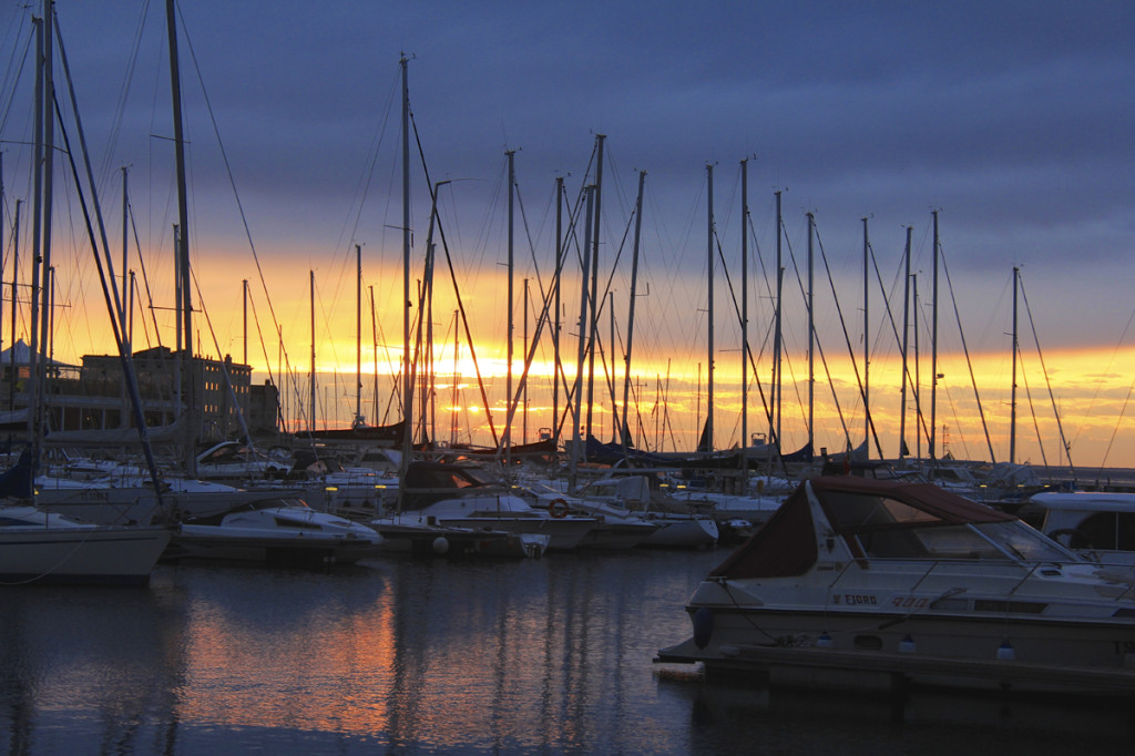 The sunsets in Trieste were like nothing I've ever seen