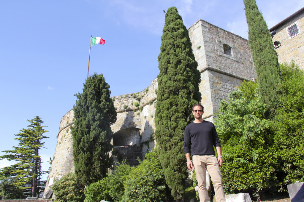 Here I am in front of the CASTLE