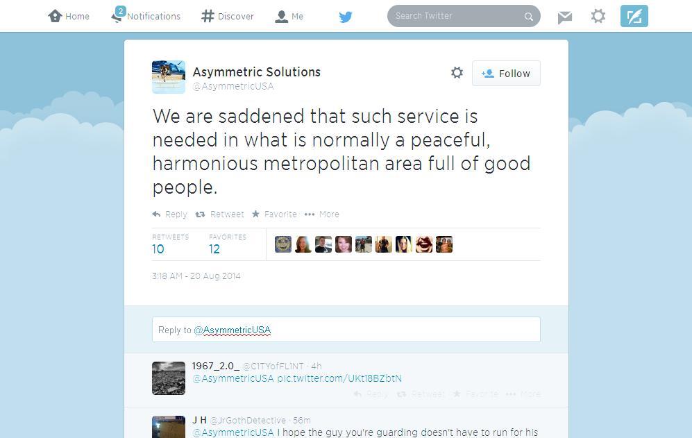 Asymmetric Solutions Tweet 3