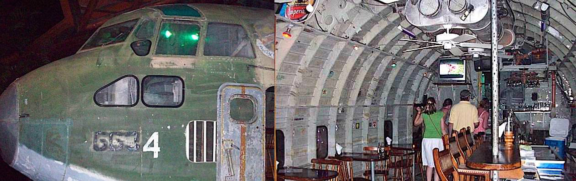 C-123 flown by Barry Seal, converted to a restaurant in Costa Rica (Images credit: Maggie Koerth-Baker, BoingBoing)