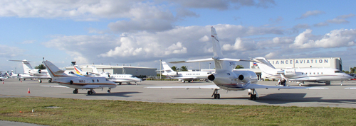 Miami Executive Airport (formerly known as Kendall-Tamiami Executive Airport). It is alleged that brothers G.W. and Jeb Bush were caught here with the Bush family's Beechcraft King AIr attempting to purchase two kilos of cocaine during a 1985 DEA sting operation (Image credit: Miami-Dade Aviation Department)