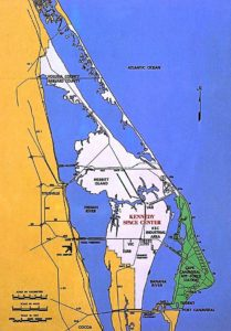 Map showing the proximity of Port Canaveral, Florida to the US Navy Trident submarine base, USAF Canaveral Air Force Station and NASA Kennedy Space Center (Image credit: NASA)
