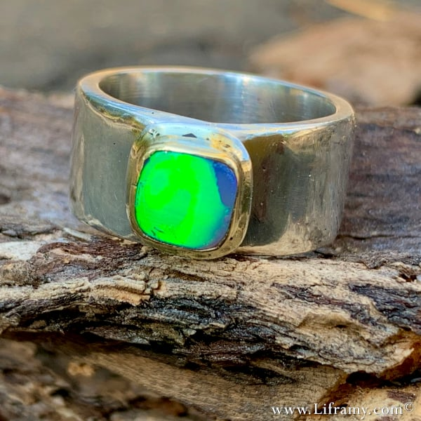 Liframy – Magical Handmade Gold and Silver Opal Ring