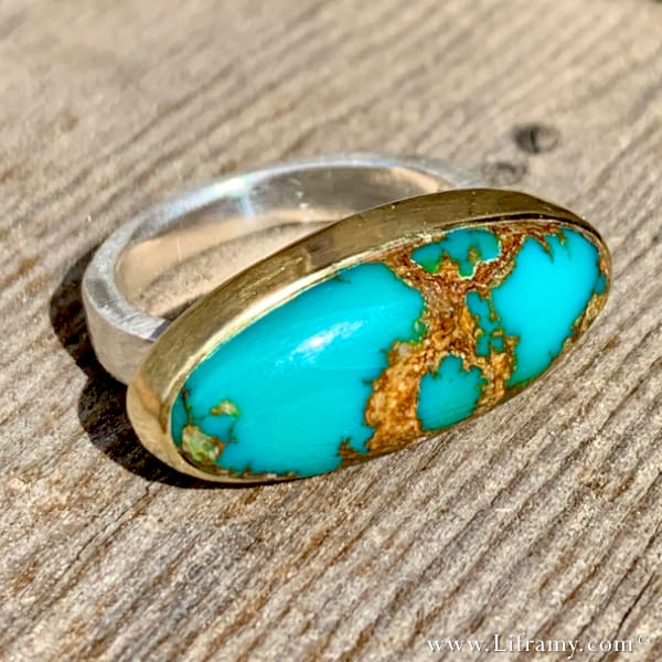 Liframy - Royston Turquoise Rocky Mountain Summer Vibes Statement Ring by Amy Whitten