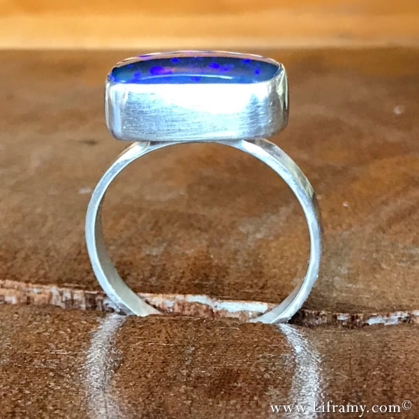 Stunning-Lightning-Ridge-Opal-Statement-Ring by Amy Whitten of Liframy