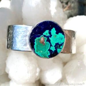 Shop Liframy – Hope and Love Under the Blue Moon Azurite-Malachite Cuff