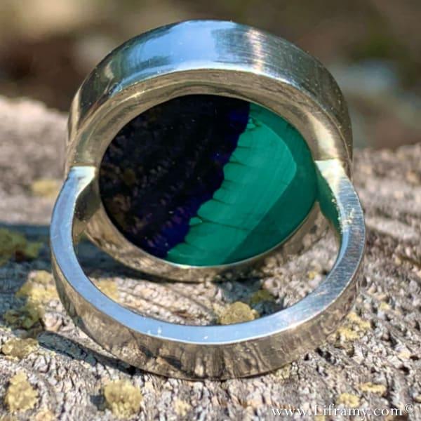 Liframy - Azurite Stone of Heaven Malachite Ring