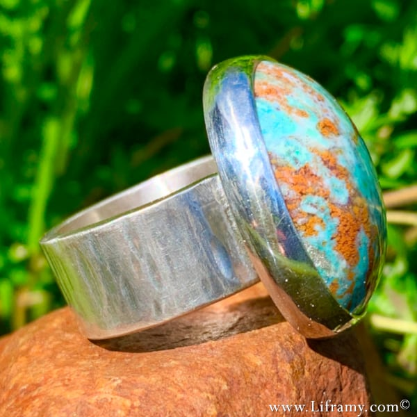 Indonesian Opal Wood Statement Ring